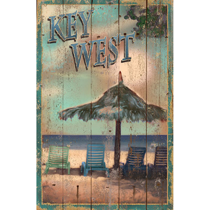 Key West Wall Art Personalized