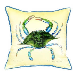 Blue Crab - Female Small Indoor/Outdoor Pillow 12X12