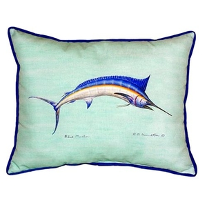 Blue Marlin - Teal Small Indoor/Outdoor Pillow 11X14