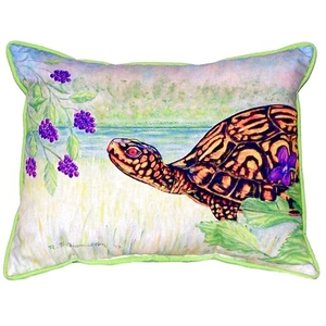 Turtle & Berries Small Indoor/Outdoor Pillow 11X14