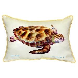 Green Sea Turtle Small Indoor/Outdoor Pillow 11X14