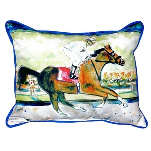Racing Horse Small Indoor/Outdoor Pillow 11X14