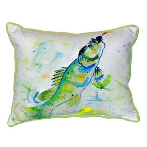 Yellow Perch Small Indoor/Outdoor Pillow 11X14