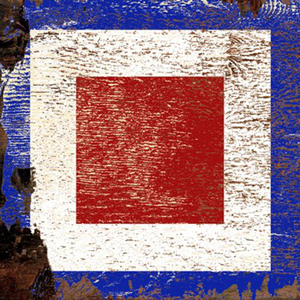Require Med Signal Flag Wood Art