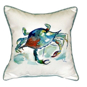 Betsy'S Crab Small Indoor/Outdoor Pillow 12X12
