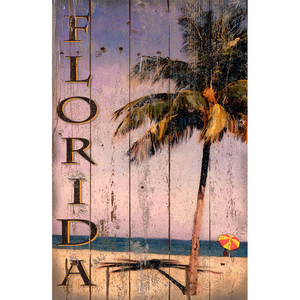 Florida Palm Wall Art Personalized