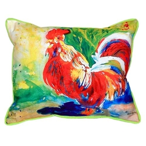 Red Rooster Small Indoor/Outdoor Pillow 11X14