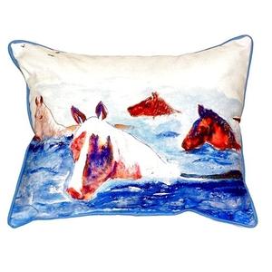 Chincoteague Ponies Indoor/Outdoor Pillow 11X14