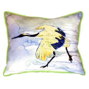 Yellow Crane Small Indoor/Outdoor Pillow 11X14