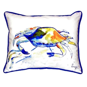 Yellow Crab Small Indoor/Outdoor Pillow 11X14