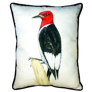 Redheaded Woodpecker Small Indoor/Outdoor Pillow 11X14