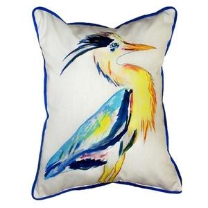Vertical Blue Heron Small Indoor/Outdoor Pillow 11X14