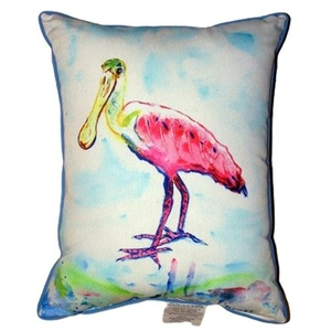 Betsy'S Pink Spoonbill Small Indoor/Outdoor Pillow 11X14