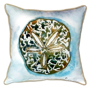 Betsy'S Sand Dollar Small Indoor/Outdoor Pillow 12X12