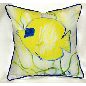 Yellow Tang Small Indoor/Outdoor Pillow 12X12