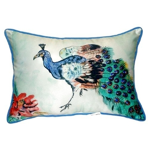 Betsy'S Peacock Small Indoor/Outdoor Pillow 11X14