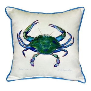 Blue Crab - Male Extra Large Zippered Pillow 22X22