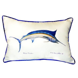 Blue Marlin Extra Large Zippered Pillow 20X24