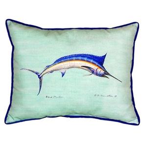 Blue Marlin - Teal Extra Large Zippered Pillow 20X24