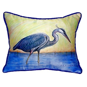 Blue Heron Extra Large Zippered Pillow 20X24