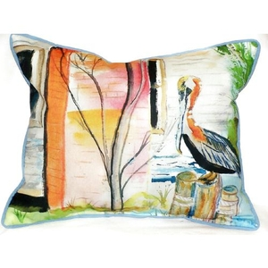 Betsy'S Pelican Extra Large Zippered Pillow 20X24