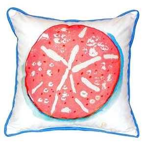 Coral Sand Dollar Extra Large Zippered Pillow 22X22