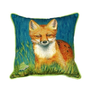 Red Fox Extra Large Zippered Pillow 22X22