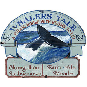 Whale'S Tale Personalized Beach Sign