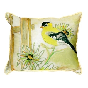 Betsy'S Goldfinch Extra Large Zippered Pillow 20X24