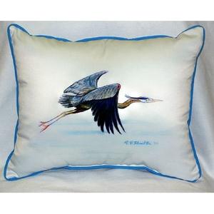 Eddie'S Blue Heron Extra Large Zippered Pillow 20X24
