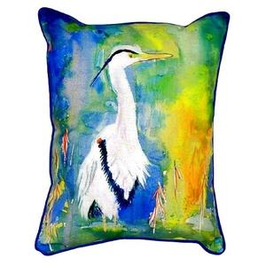 D&B'S Blue Heron Extra Large Zippered Pillow 20X24