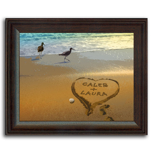 Personalized Sandpipers Framed Print