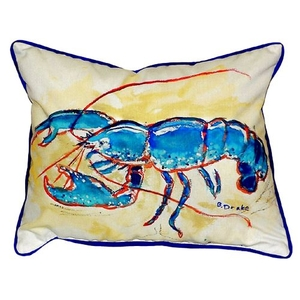 Blue Lobster Extra Large Zippered Pillow 20X24