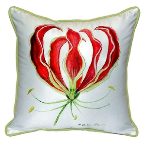 Red Lily Extra Large Zippered Pillow 22X22