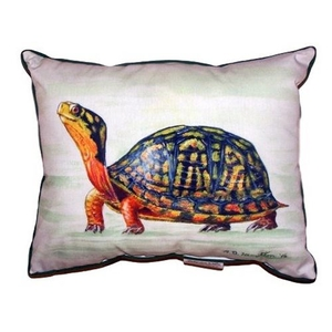 Happy Turtle Extra Large Zippered Pillow 20X24