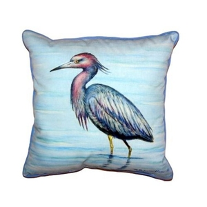 Dick'S Little Blue Heron Extra Large Zippered Pillow 22X22