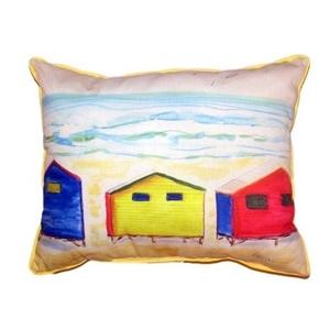 Beach Bungalows Extra Large Zippered Pillow 20X24