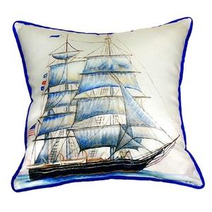 Whaling Ship Extra Large Zippered Pillow 22X22