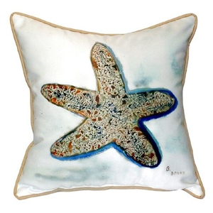 Betsy'S Starfish Extra Large Zippered Pillow 22X22