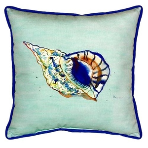 Betsy'S Shell - Teal Extra Large Zippered Pillow 22X22