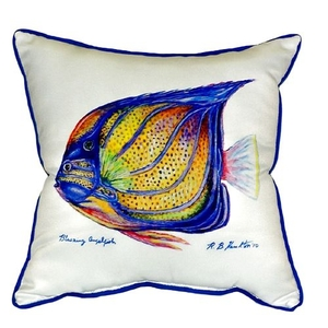 Blue Ring Angelfish Extra Large Zippered Pillow 22X22