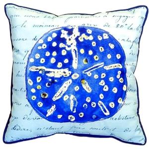 Blue Sand Dollar Extra Large Zippered Pillow 22X22