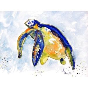 Blue Sea Turtle Door Mat 18X26