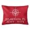 Custom Compass Rose Coordinates Lumbar Pillow - Red