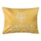 Custom Compass Rose Coordinates Lumbar Pillow - Yellow