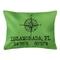 Custom Compass Rose Coordinates Lumbar Pillow - Light Green