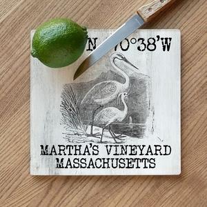 Custom Coordinates Vintage Egrets Cutting Board