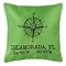 Custom Compass Rose Coordinates Pillow - Light Green