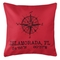 Custom Compass Rose Coordinates Pillow - Red