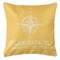 Custom Compass Rose Coordinates Pillow - Yellow